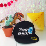 """Strong As Fuck"" - Snapback Cap - Hand Over Your Fairy Cakes - hoyfc.com"