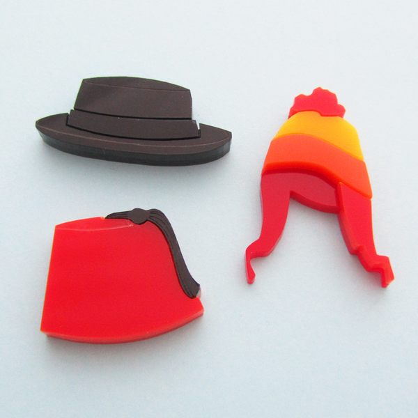 TV Hat Brooch