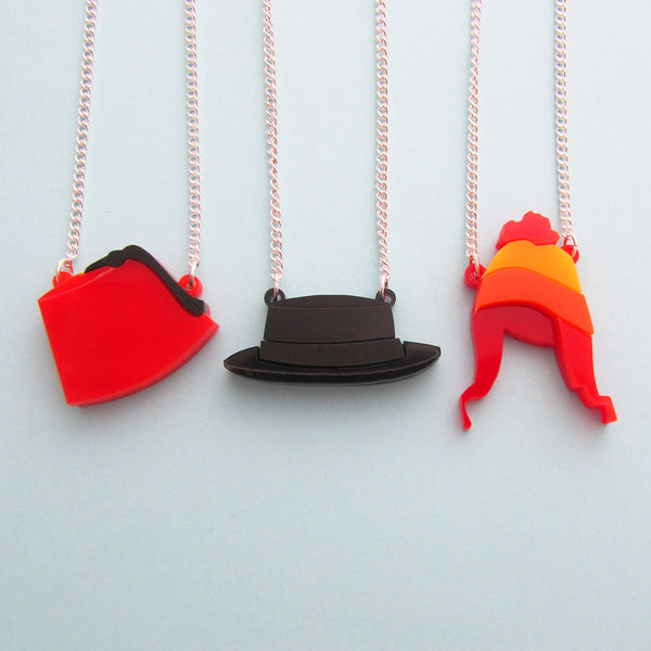 TV Hat Necklace - Hand Over Your Fairy Cakes - hoyfc.com