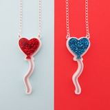 Heart Balloon Necklace - Hand Over Your Fairy Cakes - hoyfc.com