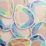 Rainbow Pastel Gem Patch - Hand Over Your Fairy Cakes - hoyfc.com