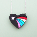 Black Vintage Eraser Necklaces - Hand Over Your Fairy Cakes - hoyfc.com