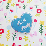 Boss Lady Enamel Pin - Hand Over Your Fairy Cakes - hoyfc.com