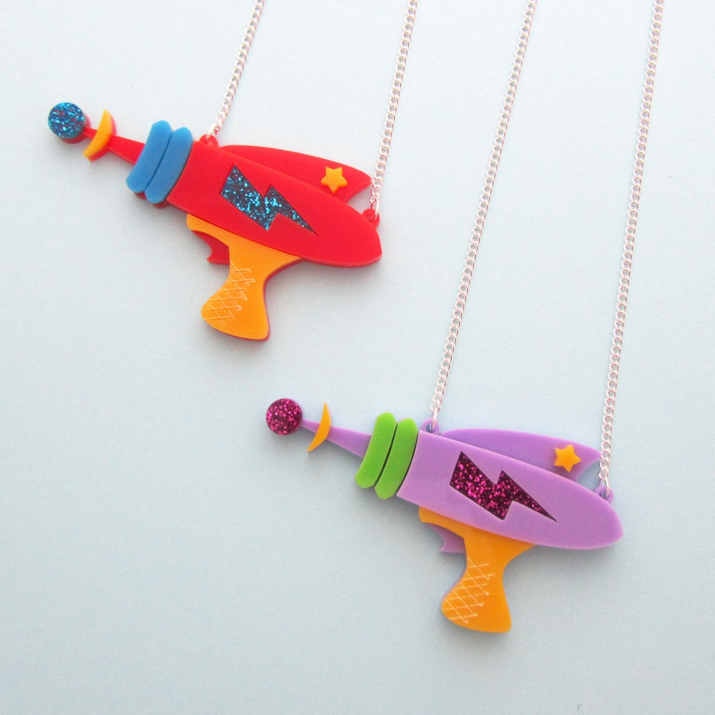 Laser Gun Necklace - Hand Over Your Fairy Cakes - hoyfc.com