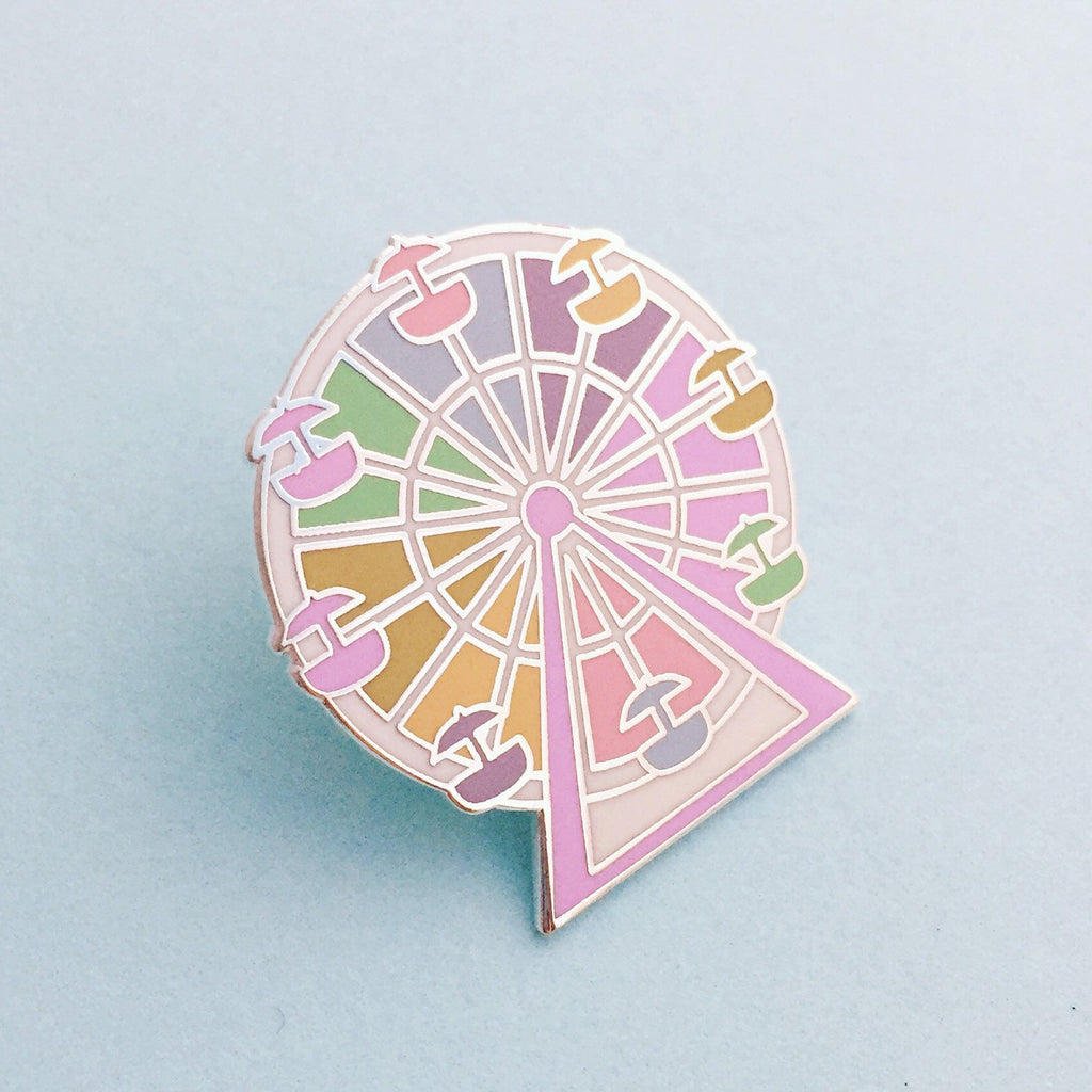 Pastel Rainbow Ferris Wheel Enamel Pin