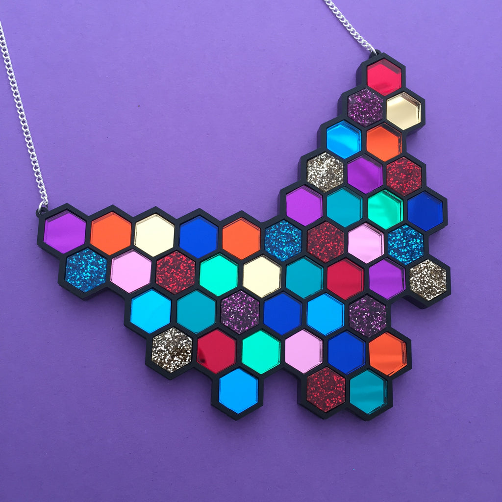 Giant Hexagon Necklace - Hand Over Your Fairy Cakes - hoyfc.com
