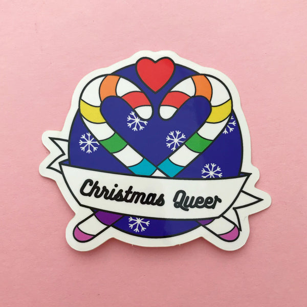 Christmas Queer Vinyl Sticker - Hand Over Your Fairy Cakes - hoyfc.com