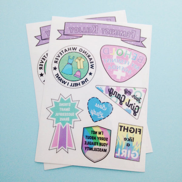 Feminist Killjoy Temporary Tattoos - Hand Over Your Fairy Cakes - hoyfc.com