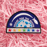 Shoot For The Moon Rainbow Rocket Patch