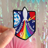 Rocket Science Rainbow Rocket Patch