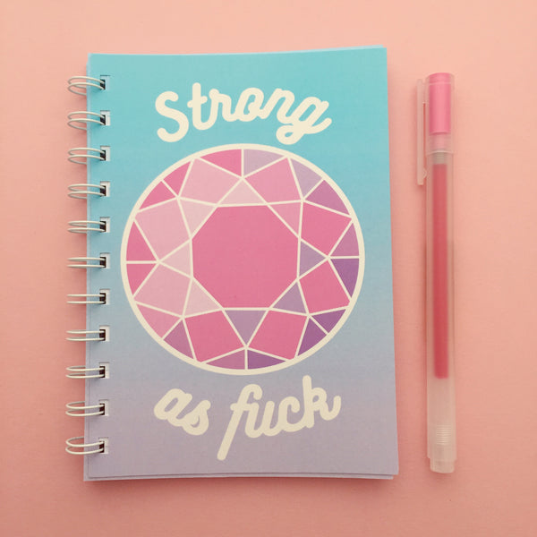 Strong As Fuck A6 Spiral Bound Notebook