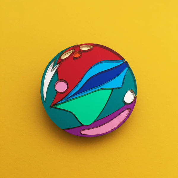 Marble Brooch - Hand Over Your Fairy Cakes - hoyfc.com