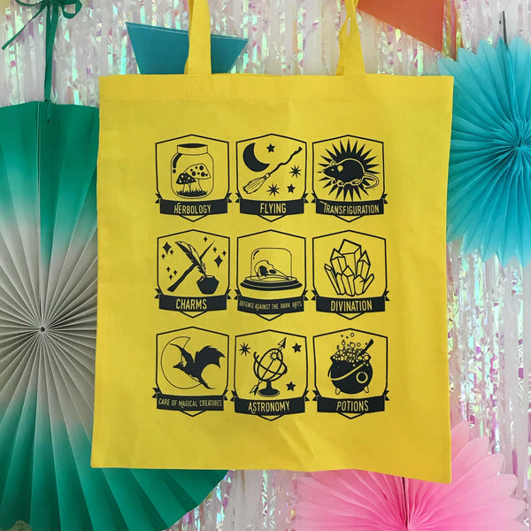 Wizard Class - Screen Printed Tote Bag - Hand Over Your Fairy Cakes - hoyfc.com