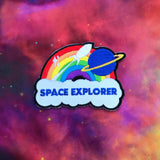 Space Explorer Rainbow Rocket Patch