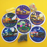 Wizard Class Sticker Pack - STANDARD VINYL - Hand Over Your Fairy Cakes - hoyfc.com