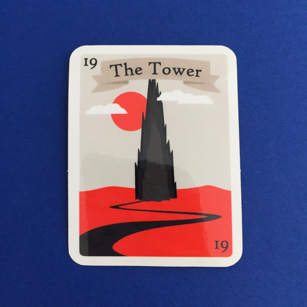 The Dark Tower Tarot Card Vinyl Sticker