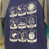 Wizard Class 3/4 Sleeve Baseball T-Shirt - Hand Over Your Fairy Cakes - hoyfc.com