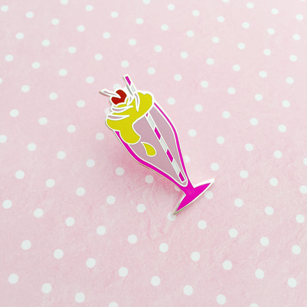 Strawberry Milkshake Enamel Pin