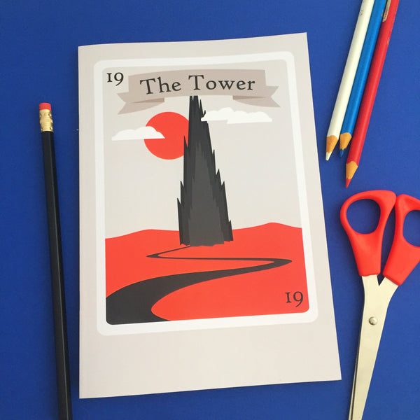 The Dark Tower Tarot Card Notebook