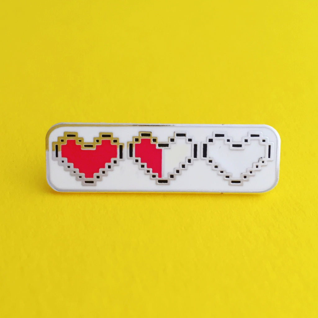 Heart Container Enamel Pin - Hand Over Your Fairy Cakes - hoyfc.com