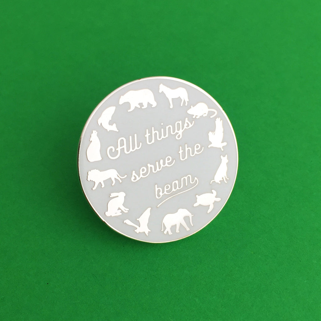 """All Things Serve the Beam"" Enamel Pin - Hand Over Your Fairy Cakes - hoyfc.com"