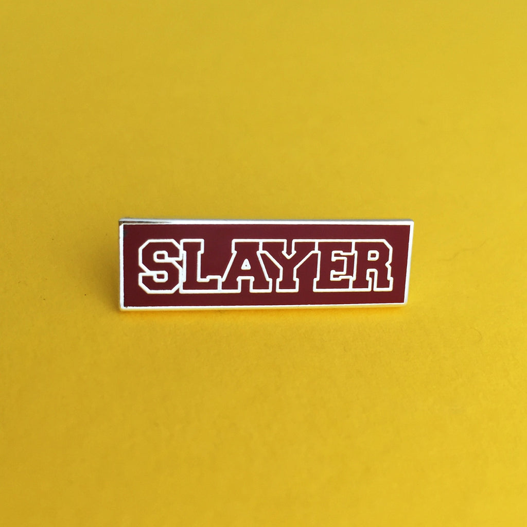 Slayer (Silver) - Enamel Pin - Hand Over Your Fairy Cakes - hoyfc.com