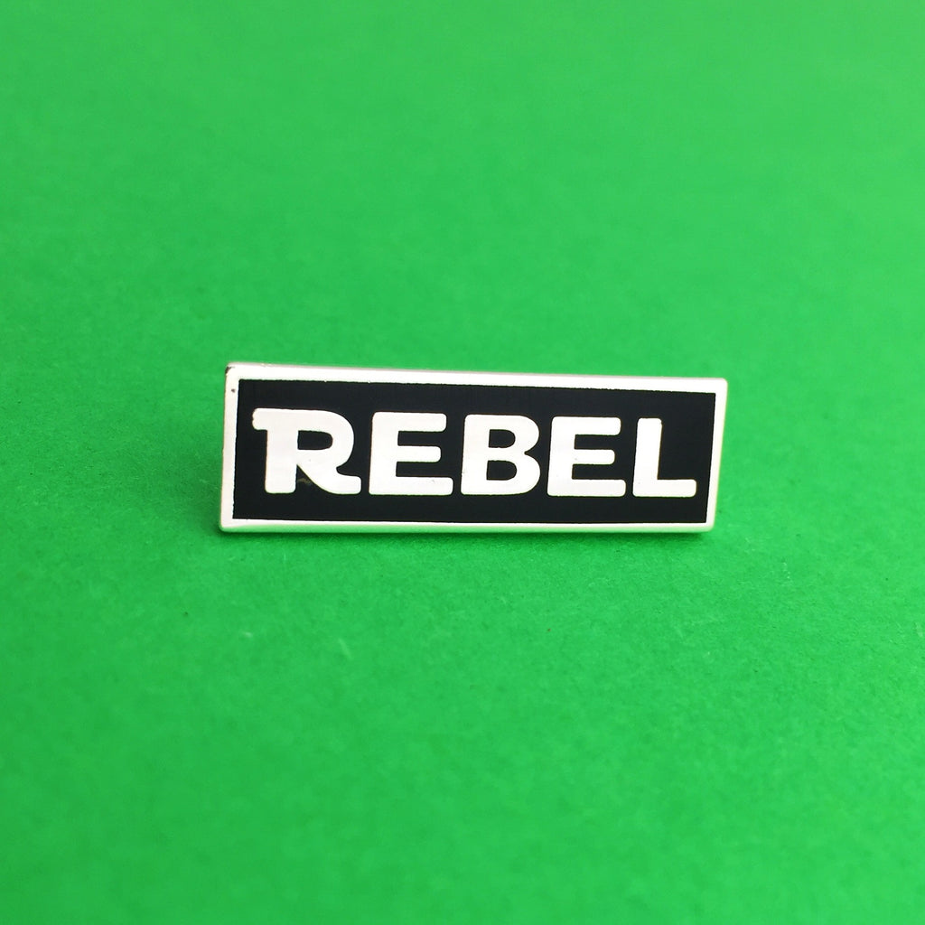 Rebel Enamel Pin - Hand Over Your Fairy Cakes - hoyfc.com