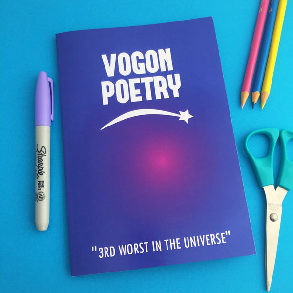 Vogon Poetry Notebook - Hand Over Your Fairy Cakes - hoyfc.com