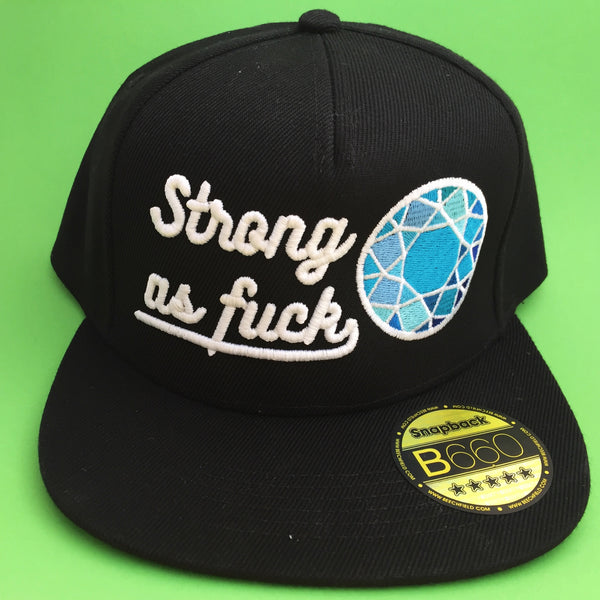 """Strong As Fuck"" Snapback Cap - Hand Over Your Fairy Cakes - hoyfc.com"