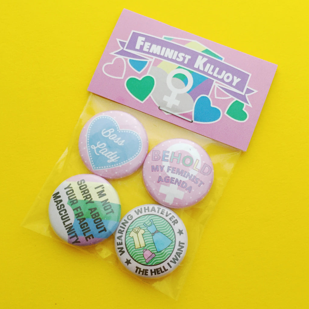 Feminist Killjoy Badge Pack 1 - Hand Over Your Fairy Cakes - hoyfc.com