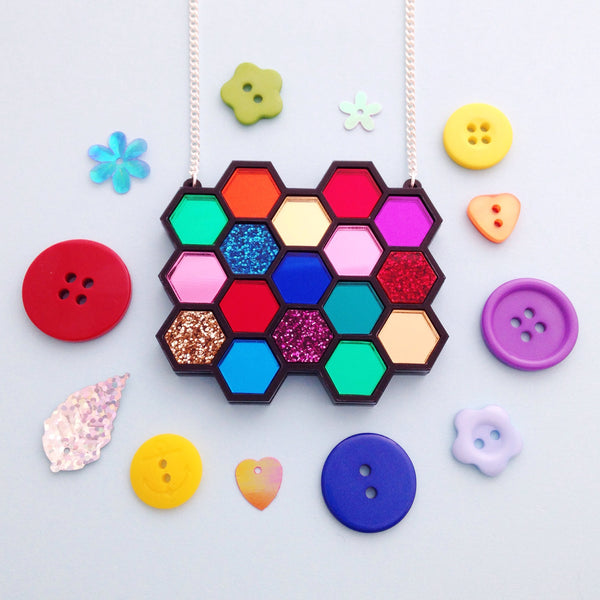 Hexagon Necklace - Hand Over Your Fairy Cakes - hoyfc.com