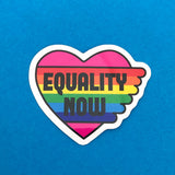 Equality Now Vinyl Sticker - Hand Over Your Fairy Cakes - hoyfc.com