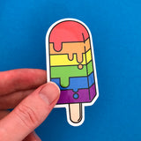 Rainbow Ice Lolly Vinyl Sticker - Hand Over Your Fairy Cakes - hoyfc.com