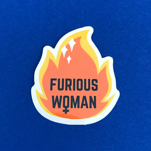Furious Woman Vinyl Sticker - Hand Over Your Fairy Cakes - hoyfc.com