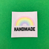 """Handmade"" Rainbow Clothing Label - Hand Over Your Fairy Cakes - hoyfc.com"