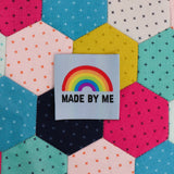 """Made By Me"" Rainbow Clothing Label"
