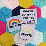 """Made By Me"" Rainbow Clothing Label - Hand Over Your Fairy Cakes - hoyfc.com"