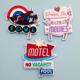 Motel Retro Sign Necklace - Hand Over Your Fairy Cakes - hoyfc.com