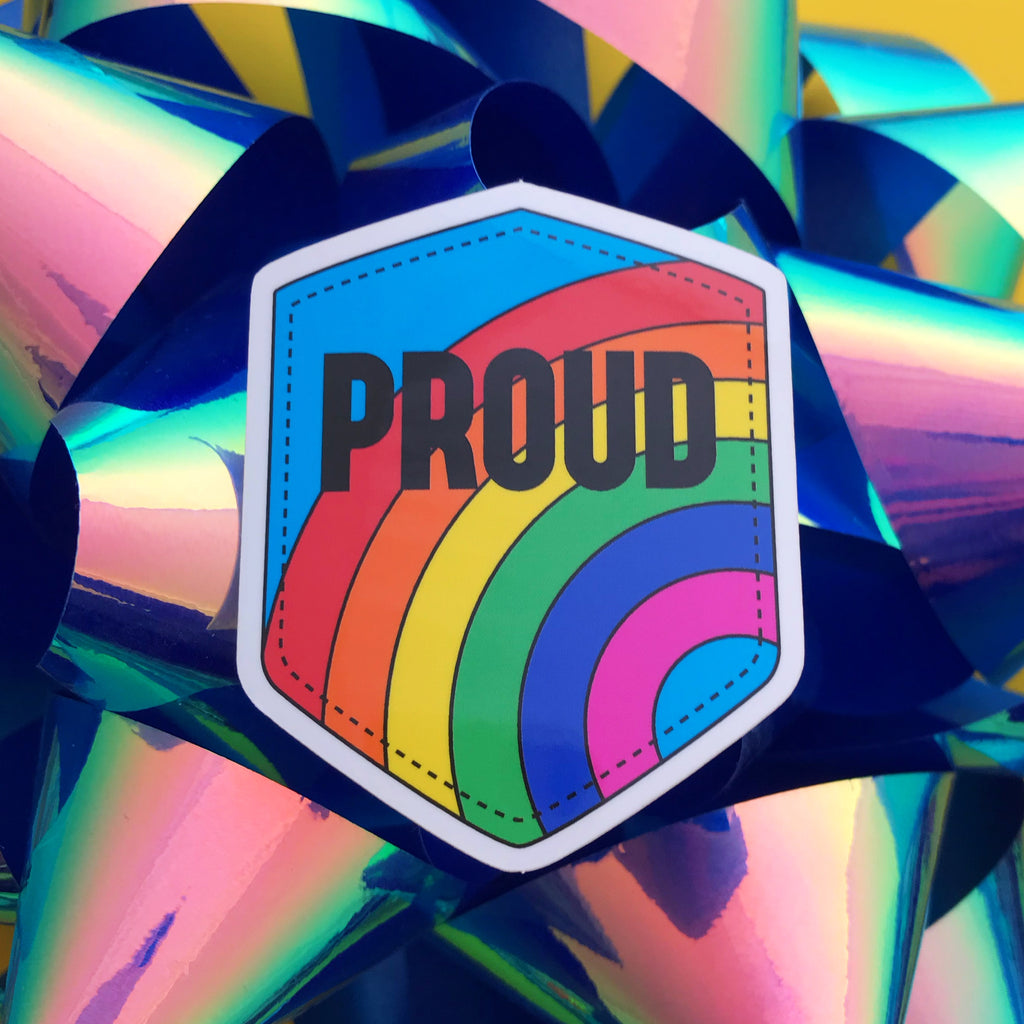 Proud Rainbow Vinyl Sticker - Hand Over Your Fairy Cakes - hoyfc.com