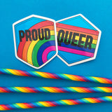 Queer Rainbow Vinyl Sticker