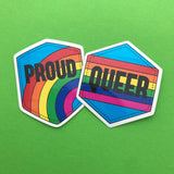 Queer Rainbow Vinyl Sticker - Hand Over Your Fairy Cakes - hoyfc.com