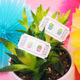 Blue Cactus Stud Earrings - Hand Over Your Fairy Cakes - hoyfc.com