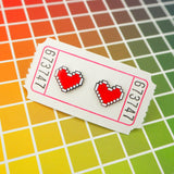 Pixel Heart Stud Earrings - Hand Over Your Fairy Cakes - hoyfc.com