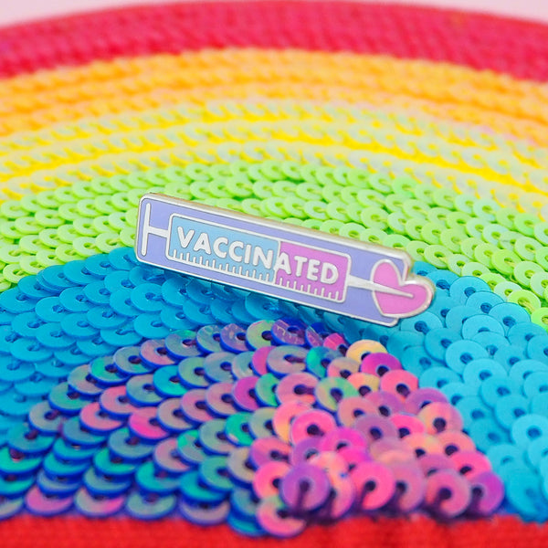 Vaccinated - Enamel Pin