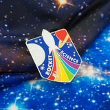 Rocket Science Rainbow Rocket Enamel Pin