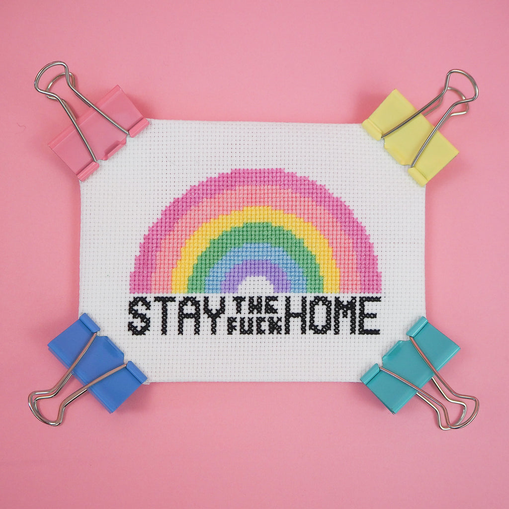 Stay The Fuck Home Cross Stitch Pattern
