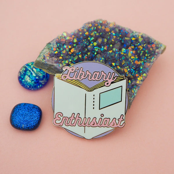 Library Enthusiast - Enamel Pin - Hand Over Your Fairy Cakes - hoyfc.com