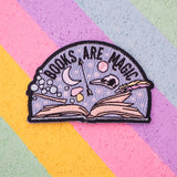 Books Are Magic  - Iron on Patch - Hand Over Your Fairy Cakes - hoyfc.com