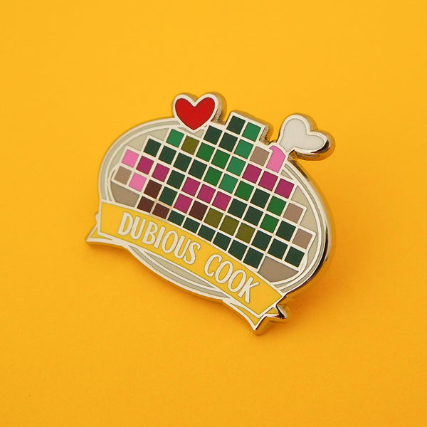 Dubious Cook - Enamel Pin - Hand Over Your Fairy Cakes - hoyfc.com