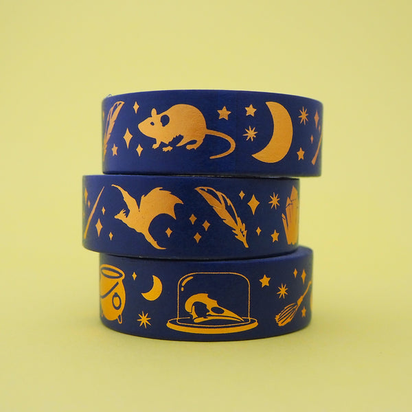 Wizard Class Gold Foil Washi Tape